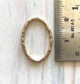 22x15mm Oval Hoop 14k G/Filled ea