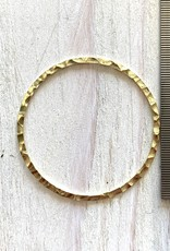 30mm Closed Ring Hammered 14k Gold Filled