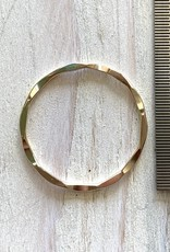 21mm Closed Ring Hammered 14k Gold Filled