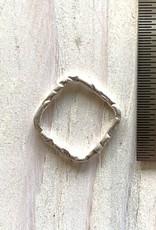 16mm Square Hoop Sterling Silver ea