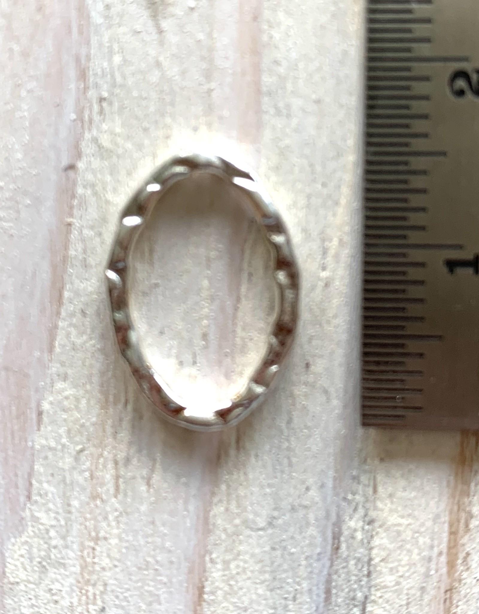16x11mm Oval Hoop Sterling Silver ea