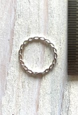 12mm Closed Ring Woven Sterling Silver