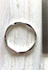 15mm Closed Ring Hammered Sterling Silver
