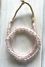 "Ghana Recycled Glass 9mm Lt Pink 24"" Necklace"