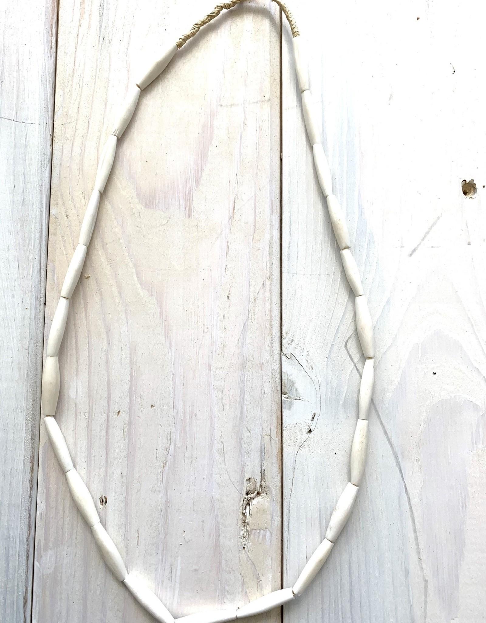 Kenya White Pipe Bone Strands