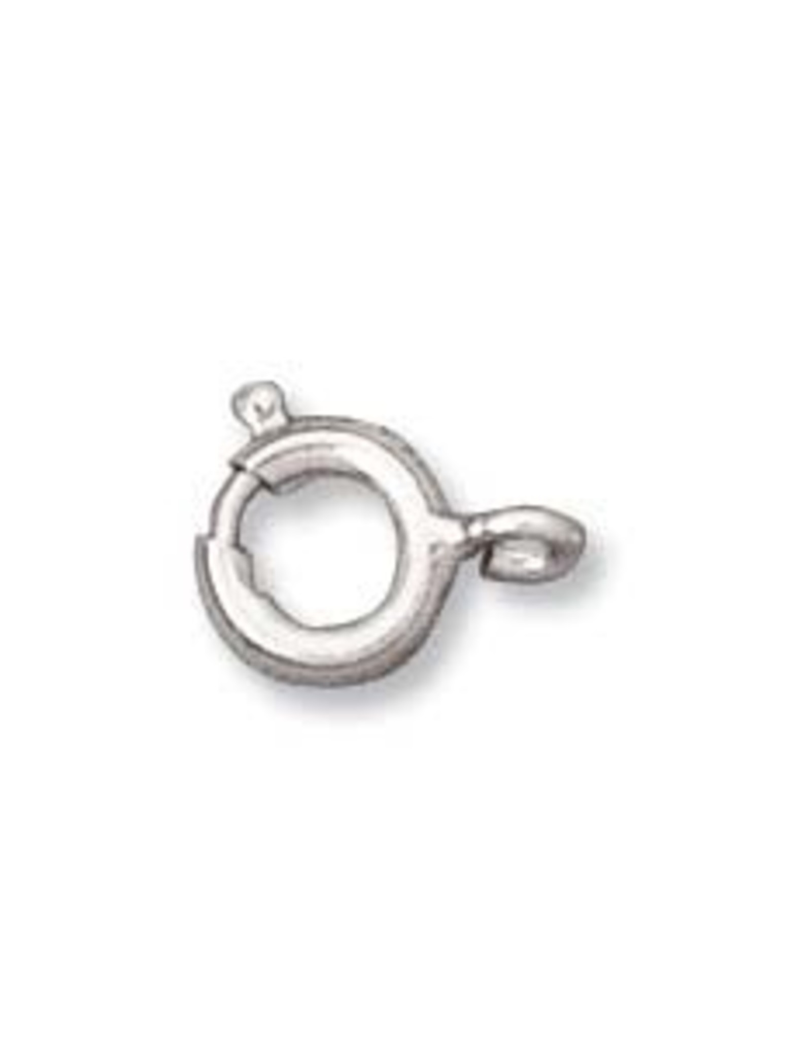 6mm Spring Ring Clasp, Silver Plated Qty 12