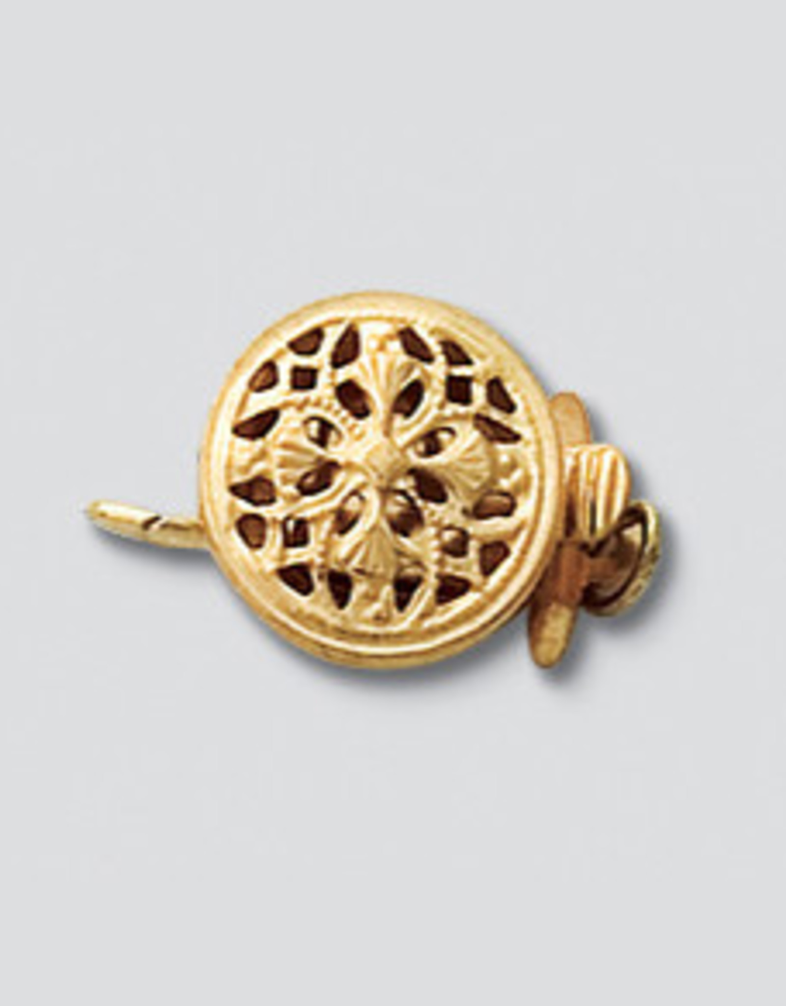 9mm Filigree Round Clasp ea