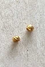 2.5mm Ribbed Crimps Gold Plated Qty 5gms