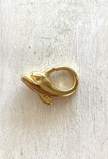 Dolphin Lobster Clasp, 14K Gold Plated over Sterling Silver ea
