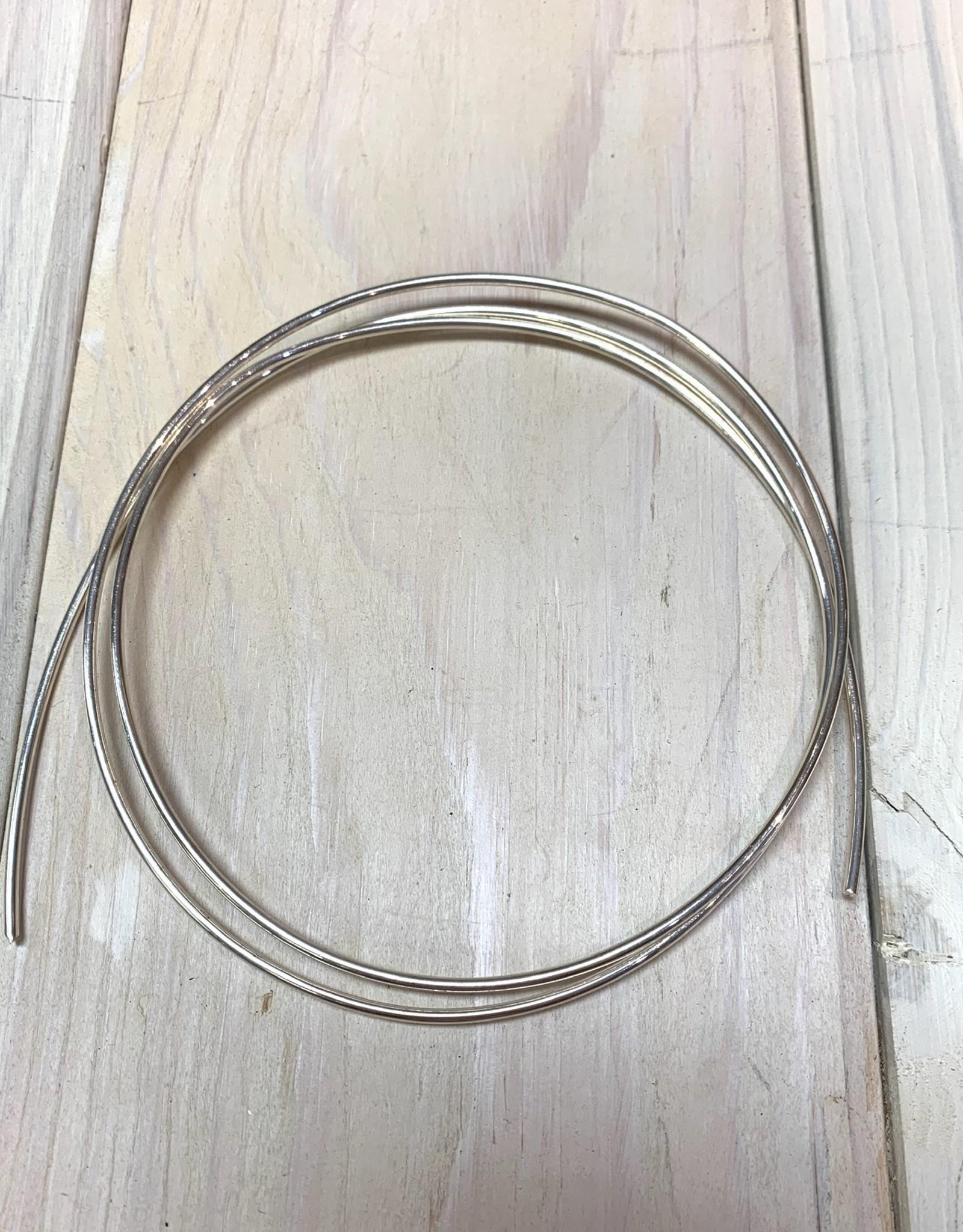 12ga Round Wire Sterling Silver 1oz DS