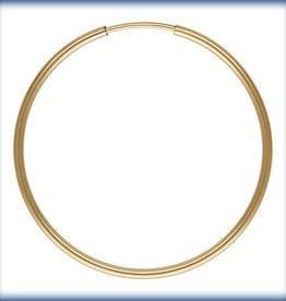 30mm Endless Hoop 14k Gold Filled pair