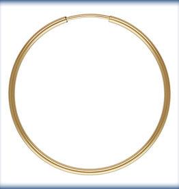 30mm Endless Hoop 14k Gold Filled pair
