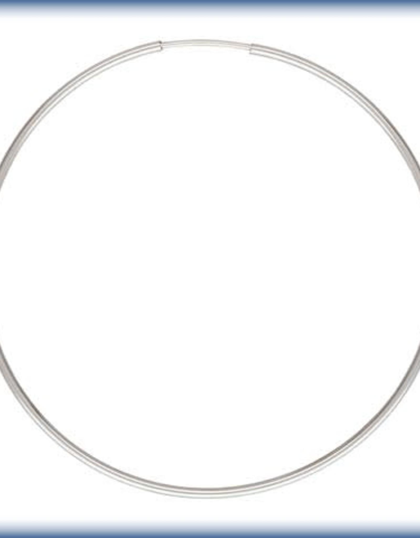 50mm Endless Hoop Sterling Silver pair