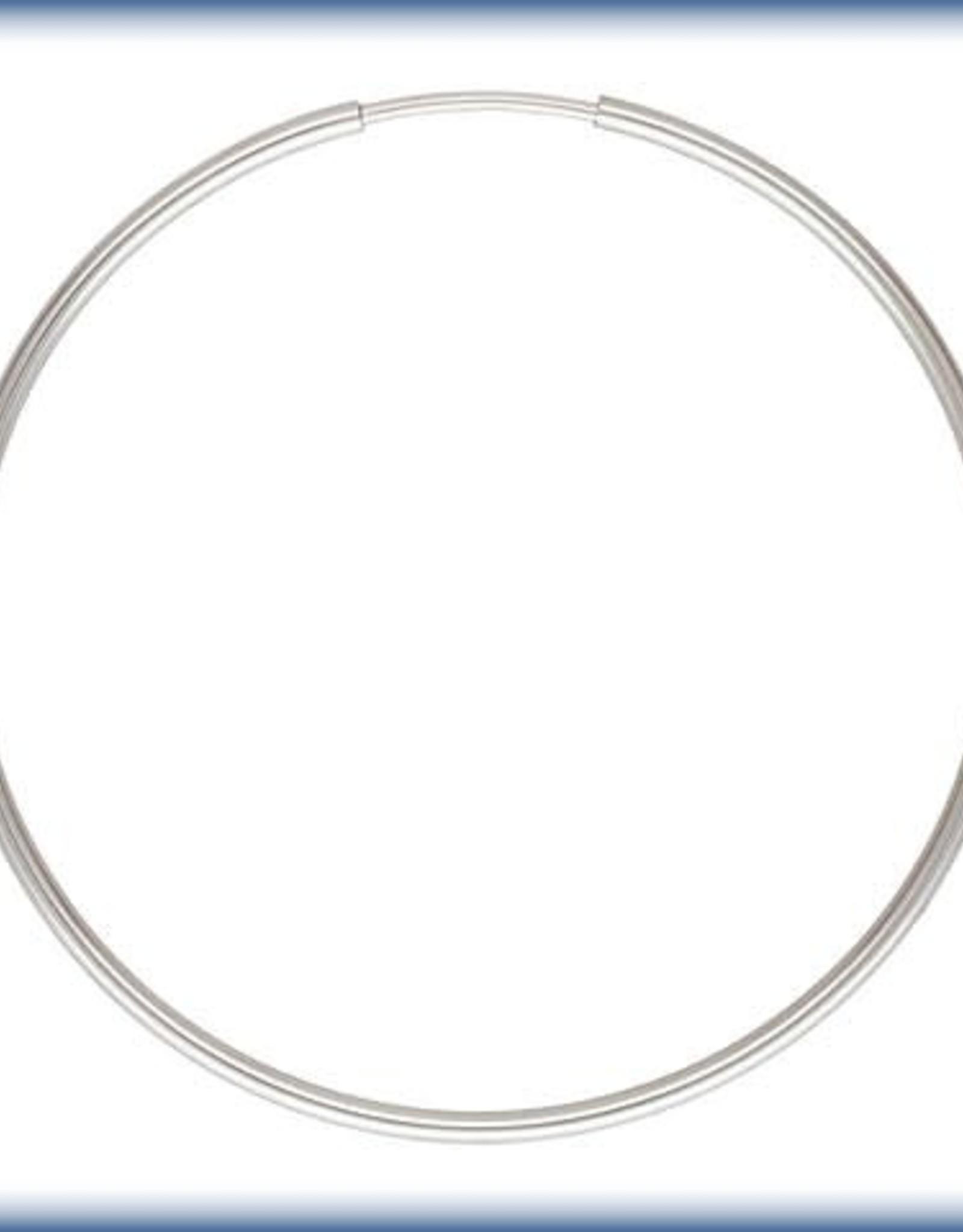 40mm Endless Hoop Sterling Silver pair