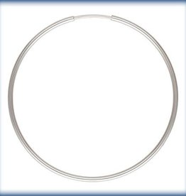 40mm Endless Hoop Sterling Silver pair