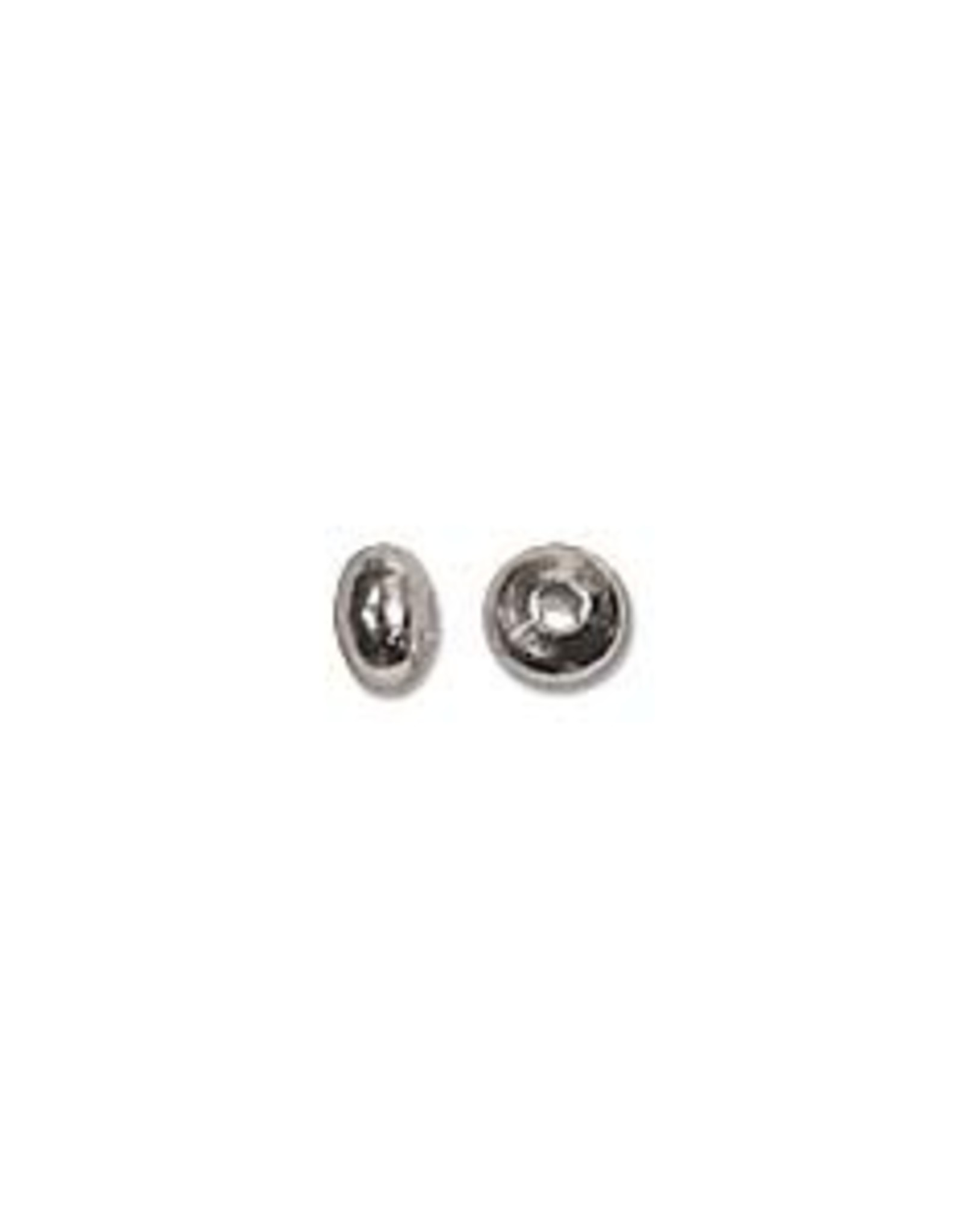 3x2mm Roundels Silver Plated Qty 144