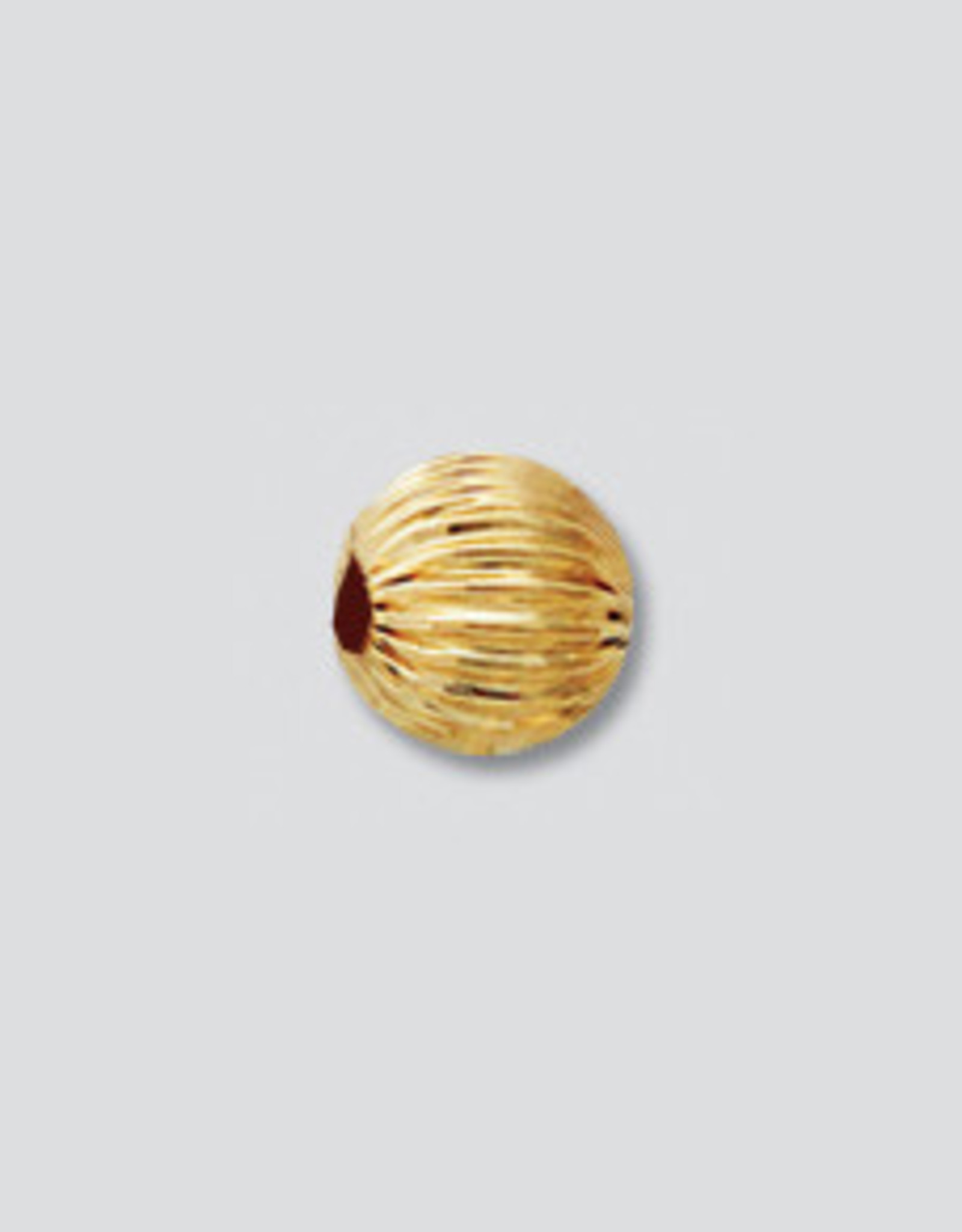 6mm Rounds Straight Corregated 14K Gold Filled Qty 6