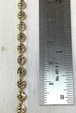 4mm Hammered Connector Chain 14 K Gold Filled Inch