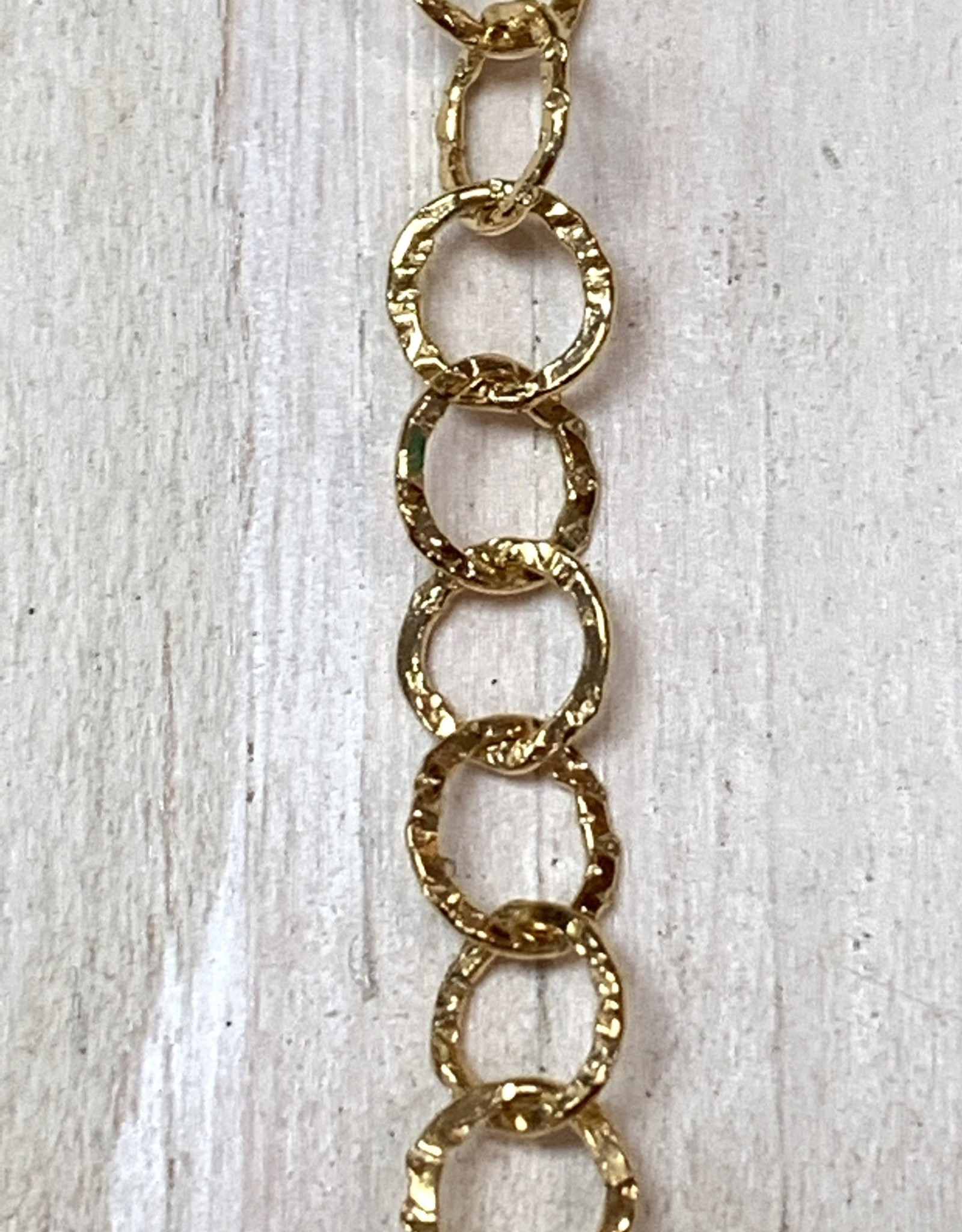 5mm Round Hammered Chain 14k Gold Filled Inch