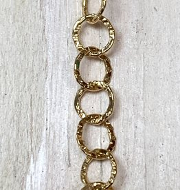 5mm Round Hammered Chain 14k Gold Filled Inch
