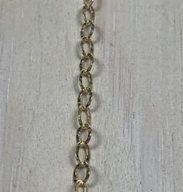 Textured Oval Chain Gold Plated over Sterling Silver Inch