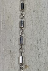 3mm Tube Link Chain Sterling Silver Inch