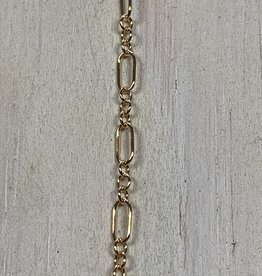 5x3mm Long Short Chain 14k Gold Filled Inch