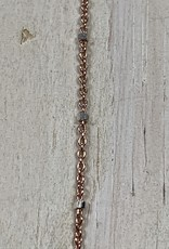 Faceted Satellite Chain 14k Rose Gold Plated over Sterling Silver Inch
