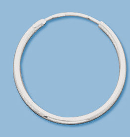 20mm Endless Hoop Sterling Silver Pair