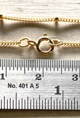 "30"" 1mm Satellite Chain w/1.9mm Bead 14k Gold Filled NL"