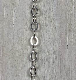 1.3mm Cable Flat Chain Sterling Silver Inch