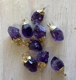 Tiny Point Charms Amethyst Points