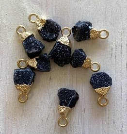 Black Druzy Nuggets Charm