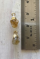 Tiny Point Charms Citrine Gold