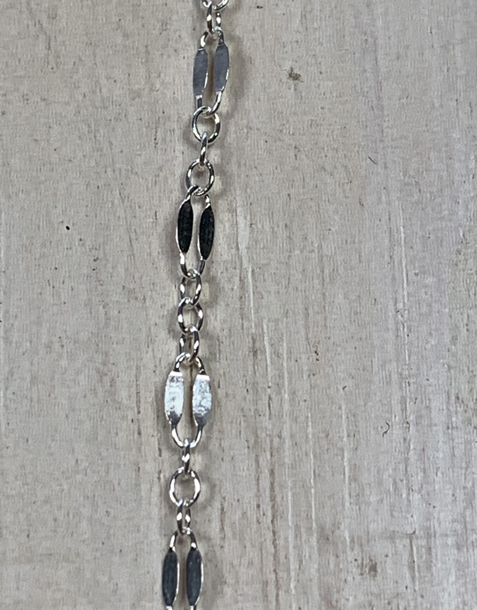 Coffee Bean Chain Sterling Silver Inch