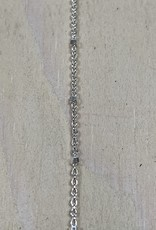 Faceted Satellite Chain Sterling Silver Inch