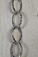 6mm Oval w/Diamond Pattern SS Chain Inch