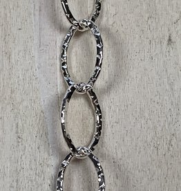 6mm Oval w/Diamond Pattern SS Chain Inch