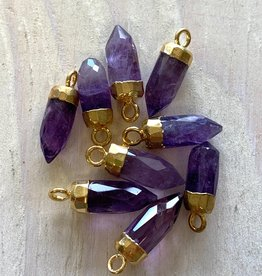 Gem Bullets Amethyst Gold