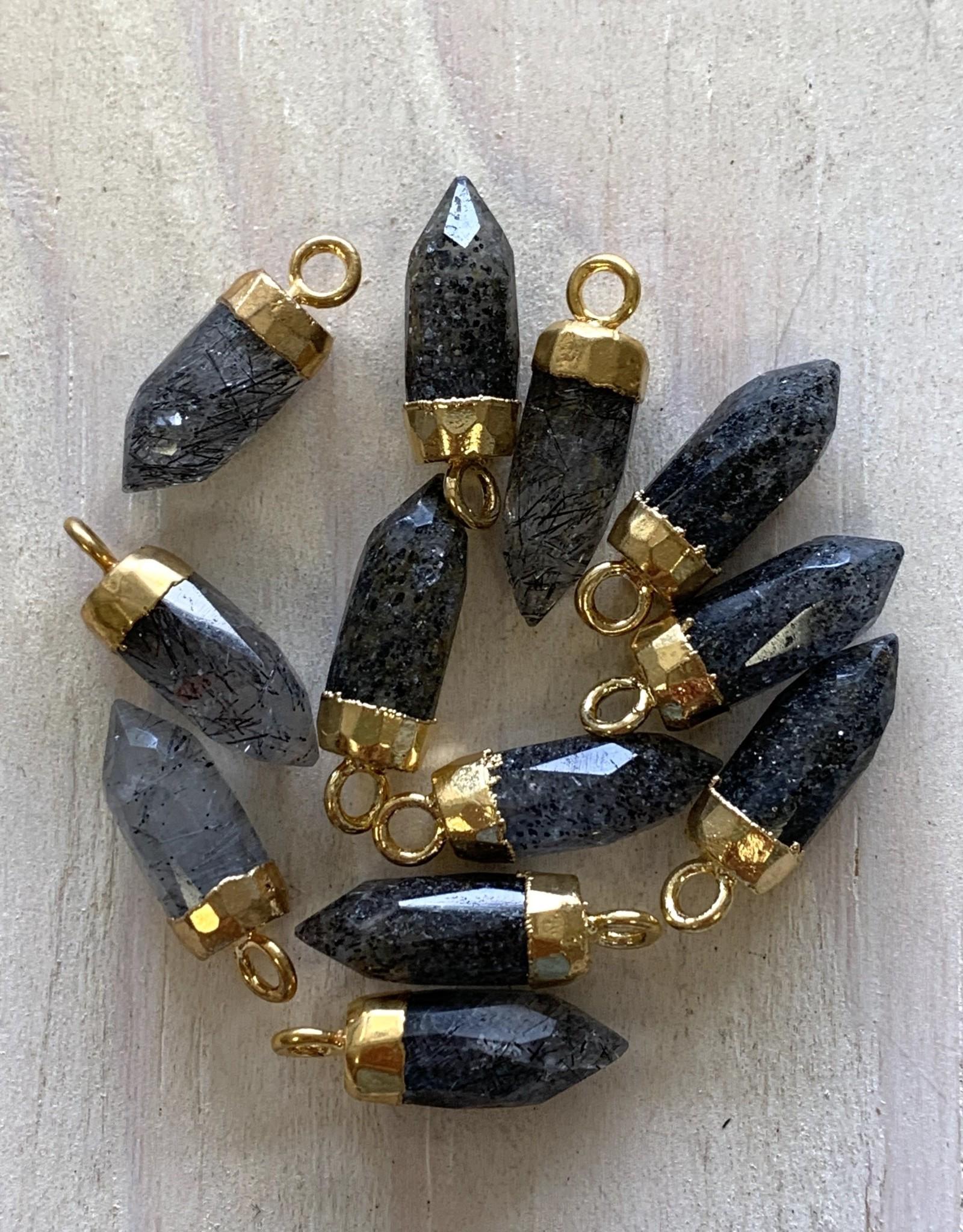 Gem Bullets Rutilated Quartz Gold
