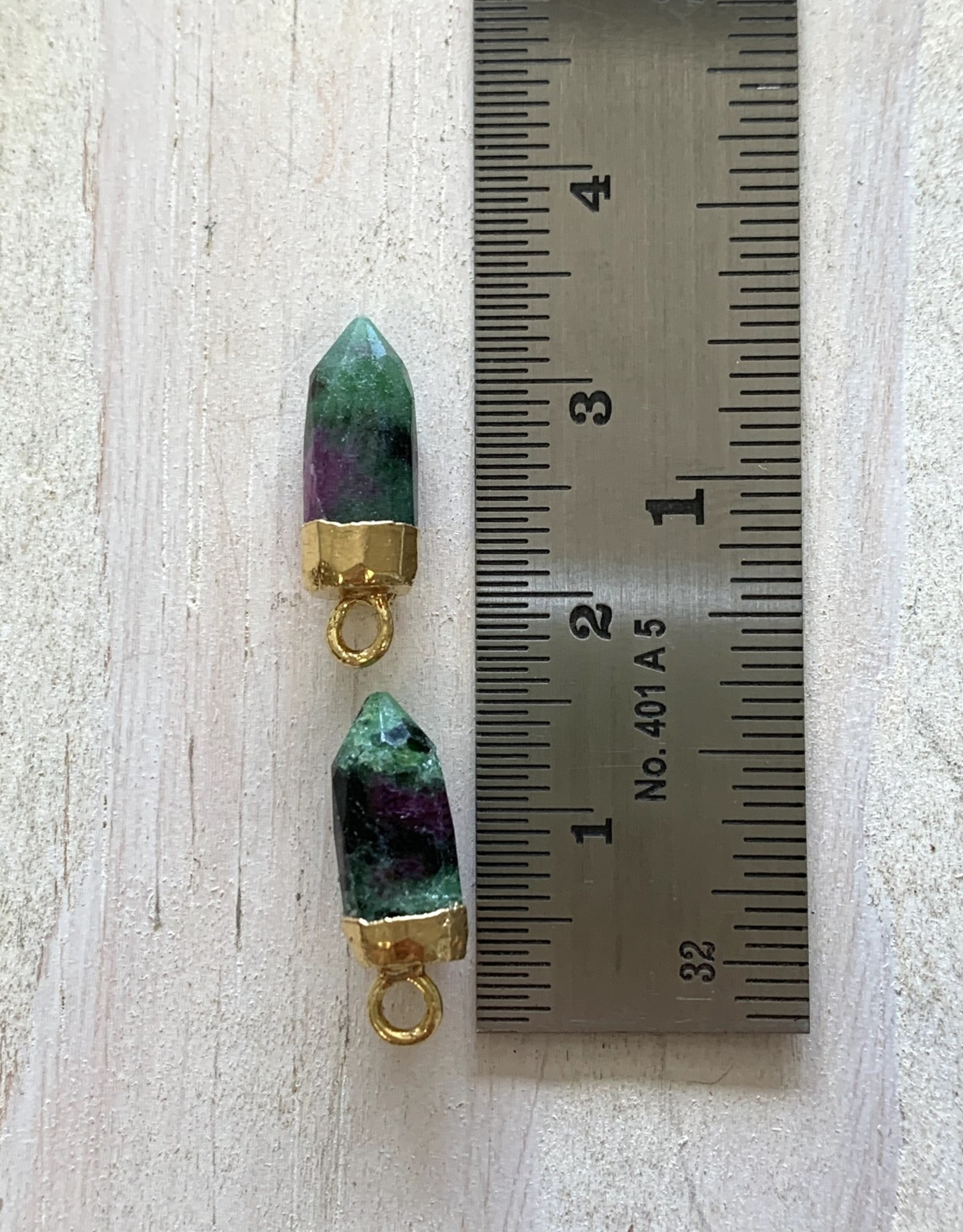 Gem Bullets Ruby & Zoisite Gold