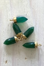 Gem Bullets Green Onyx Gold
