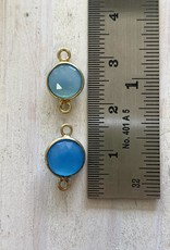 7mm Chalcedony Connectors Gold