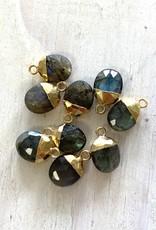 Labradorite Oval Drops Gold
