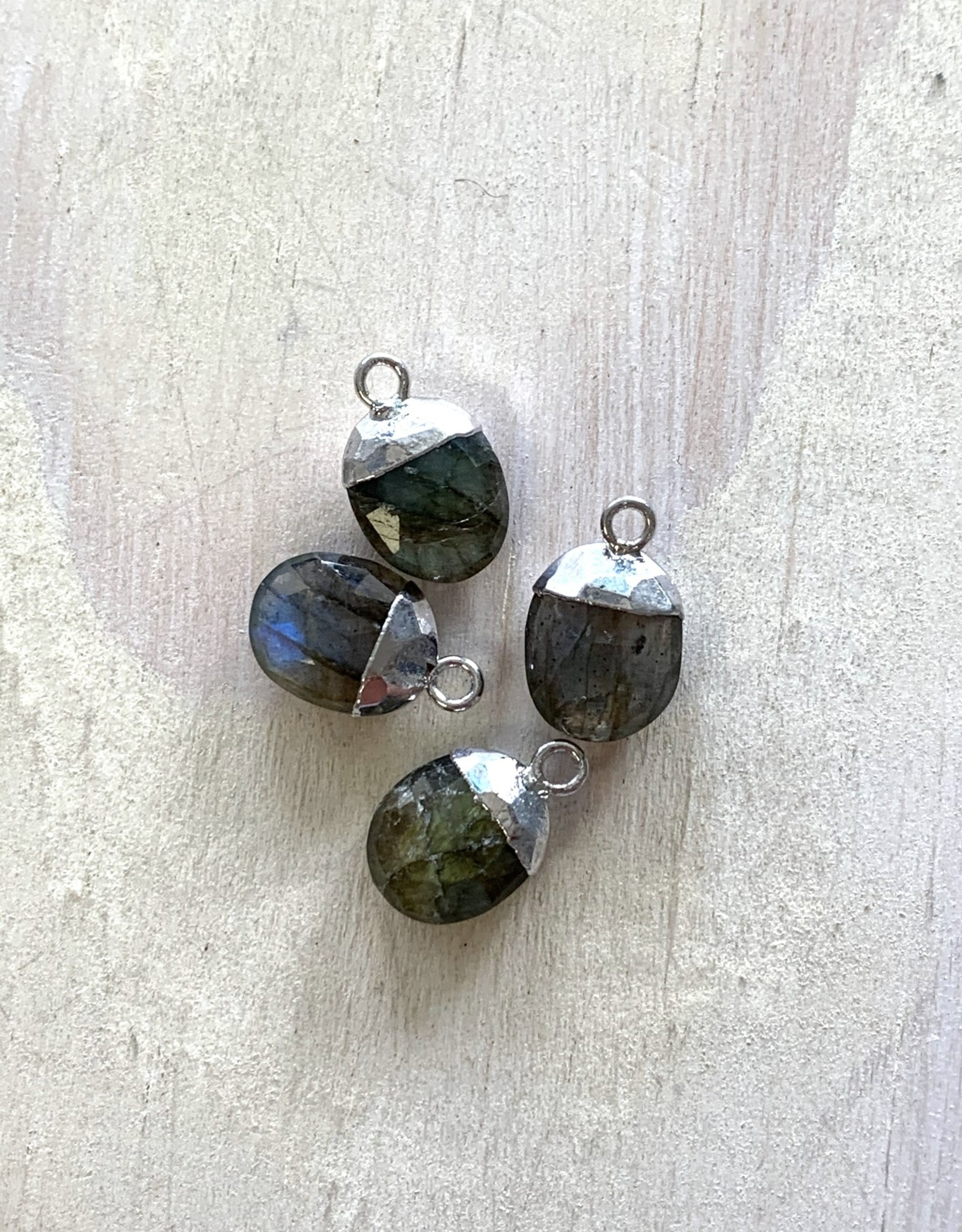 Labradorite Oval Drops Silver