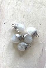 Moonstone Oval Drops Silver