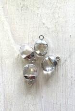 Quartz Crystal Oval Drops Silver