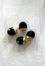 Onyx Oval Drops Gold