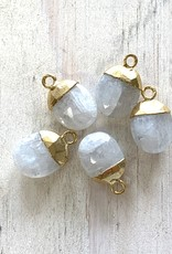 Moonstone Oval Drops Gold