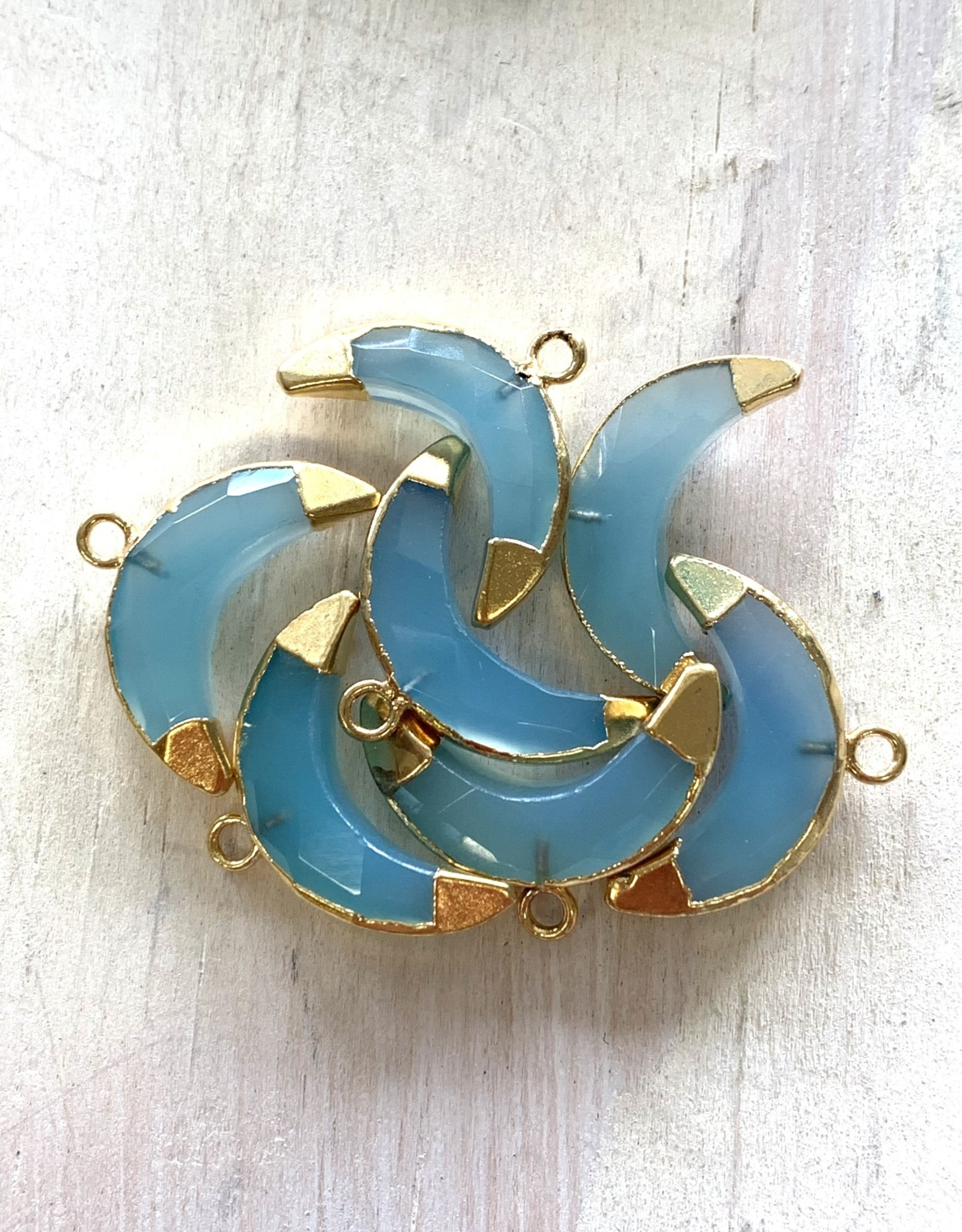 Chalcedony Crescents Gold
